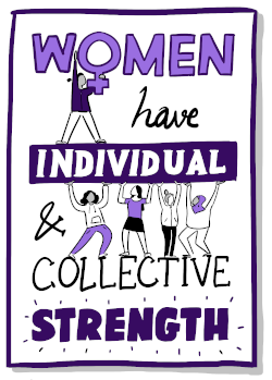 Women have individual and collective strength